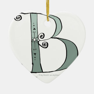 Magical Letter B from tony fernandes design Ceramic Ornament