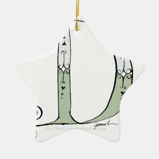 Magical Letter D from tony fernandes design Ceramic Star Ornament