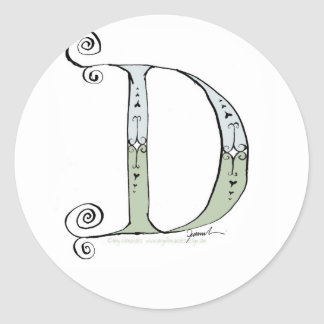 Magical Letter D from tony fernandes design Classic Round Sticker