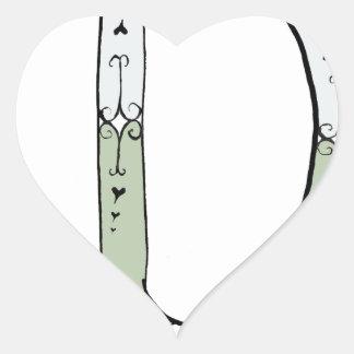 Magical Letter D from tony fernandes design Heart Sticker