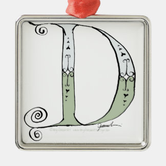 Magical Letter D from tony fernandes design Metal Ornament