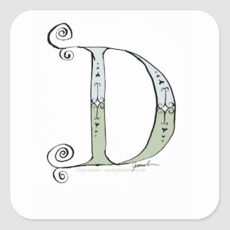 Magical Letter D from tony fernandes design Square Sticker