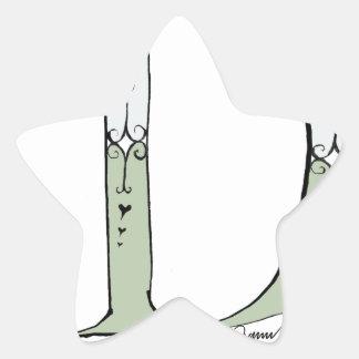 Magical Letter D from tony fernandes design Star Sticker