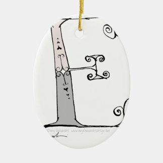 Magical Letter E from tony fernandes design Ceramic Ornament