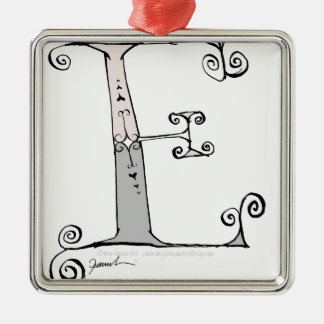 Magical Letter E from tony fernandes design Metal Ornament