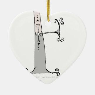 Magical Letter F from tony fernandes design Ceramic Ornament