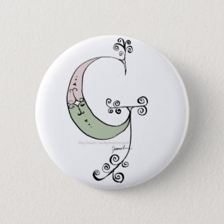 Magical Letter G from tony fernandes design 2 Inch Round Button