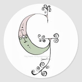 Magical Letter G from tony fernandes design Classic Round Sticker