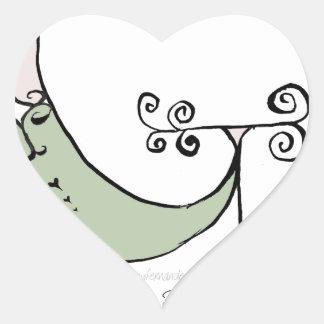 Magical Letter G from tony fernandes design Heart Sticker