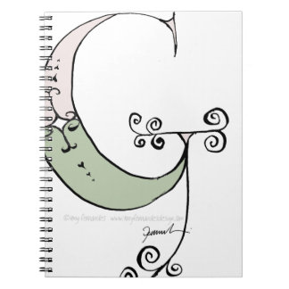 Magical Letter G from tony fernandes design Note Book