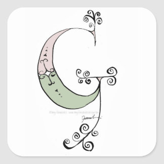 Magical Letter G from tony fernandes design Square Sticker