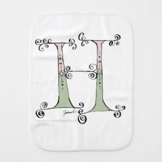 Magical Letter H from tony fernandes design Burp Cloth