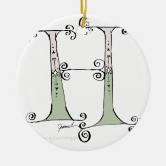 Magical Letter H from tony fernandes design Ceramic Ornament