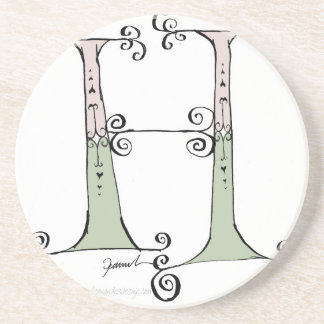Magical Letter H from tony fernandes design Coaster
