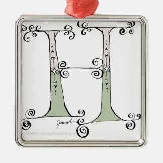 Magical Letter H from tony fernandes design Metal Ornament