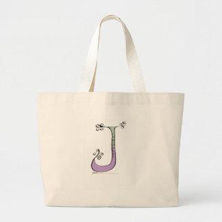 Magical Letter J from tony fernandes design Large Tote Bag