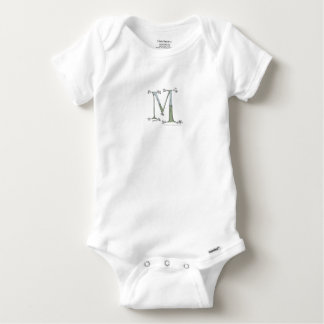 Magical Letter M from tony fernandes design Baby Onesie