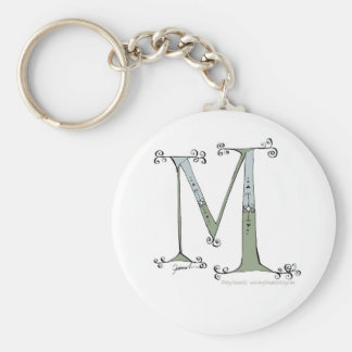 Magical Letter M from tony fernandes design Basic Round Button Keychain