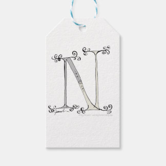 Magical Letter N from tony fernandes design Gift Tags