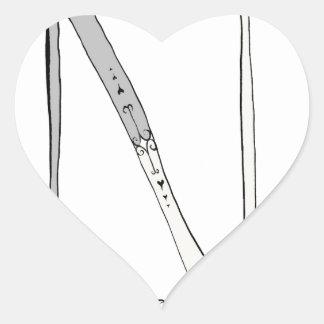 Magical Letter N from tony fernandes design Heart Sticker