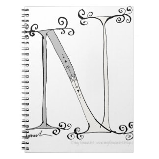 Magical Letter N from tony fernandes design Notebooks