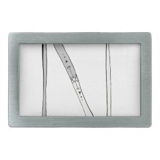 Magical Letter N from tony fernandes design Rectangular Belt Buckle