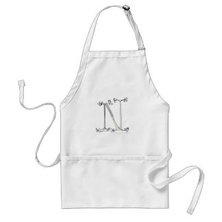 Magical Letter N from tony fernandes design Standard Apron