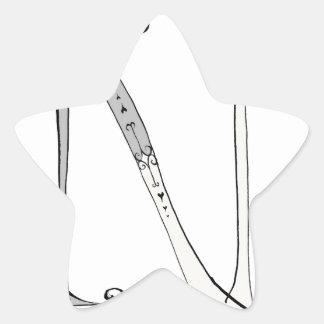 Magical Letter N from tony fernandes design Star Sticker