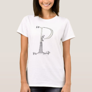 Magical Letter P from tony fernandes design T-Shirt