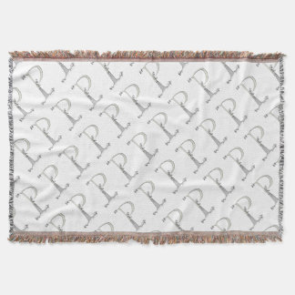 Magical Letter P from tony fernandes design Throw Blanket