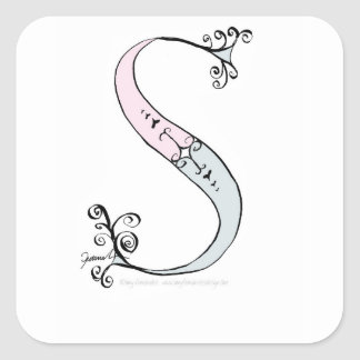 Magical Letter S from tony fernandes design Square Sticker