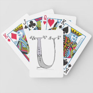 Magical Letter U from tony fernandes design Bicycle Playing Cards