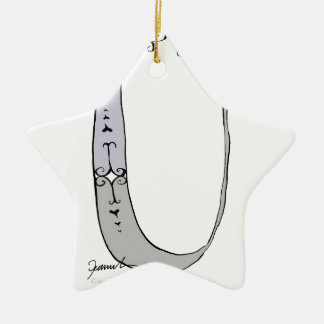 Magical Letter U from tony fernandes design Ceramic Star Ornament