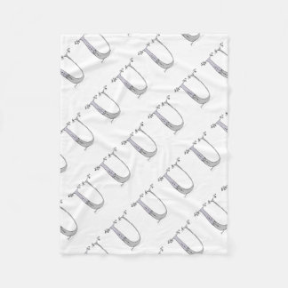 Magical Letter U from tony fernandes design Fleece Blanket