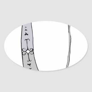Magical Letter U from tony fernandes design Oval Sticker