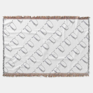 Magical Letter U from tony fernandes design Throw Blanket
