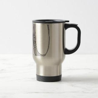 Magical Letter U from tony fernandes design Travel Mug