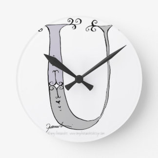 Magical Letter U from tony fernandes design Wall Clock