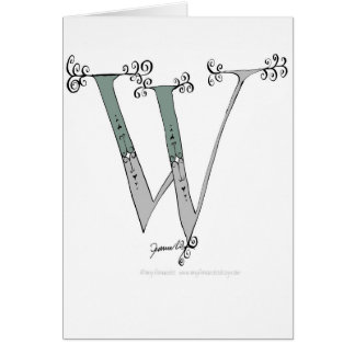 Magical Letter W from tony fernandes design Card
