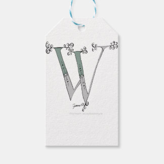 Magical Letter W from tony fernandes design Gift Tags