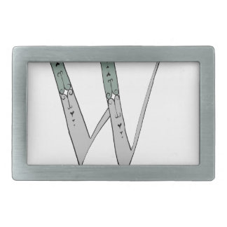 Magical Letter W from tony fernandes design Rectangular Belt Buckle