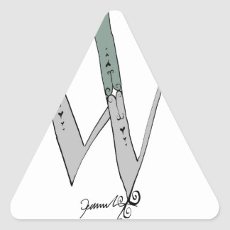 Magical Letter W from tony fernandes design Triangle Sticker