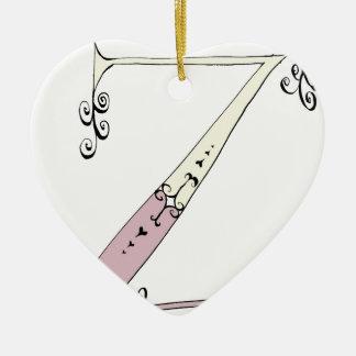 Magical Letter Z from tony fernandes design Ceramic Heart Ornament