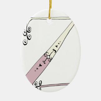 Magical Letter Z from tony fernandes design Ceramic Oval Ornament