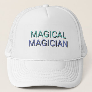 MAGICAL MAGICIAN Text Trucker Hat