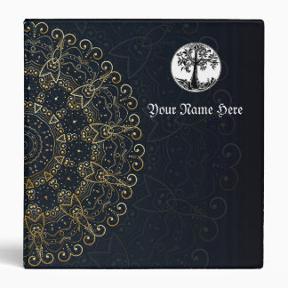 Magical Mandala Midnight Witches Book Of Shadows 3 Ring Binders