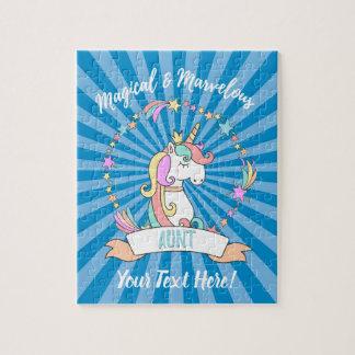 Magical Marvellous Aunt  - Unicorn Princess Jigsaw Puzzle