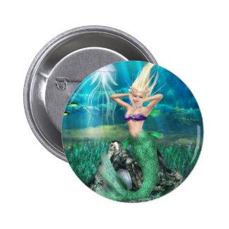 Magical Mermaid 2 Inch Round Button