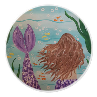 Magical Mermaid Ceramic Knob