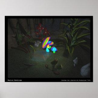 Magical Mushrooms Poster